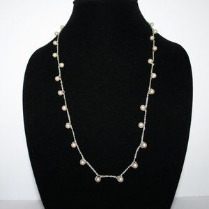 Crochet pearl necklace 32""